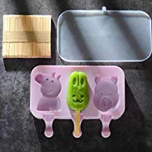 MINGTAI Manual Baking Mold Cute Cartoon Homemade Ice Cream Mold Cube Tray Decoration Silicon Cake Popsicle Molds Hockey To...