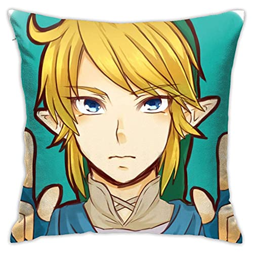 HOJJP The Legend of Zelda Games Throw Pillowcase Anime Pillow Cover 18x18 Inches