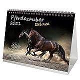 Pferdezauber DELUXE DIN A5 Tischkalender für 2021 Pferde - Seelenzauber
