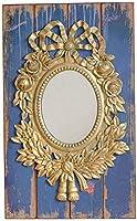 HLL ミラー、レトロな装飾的な鏡、苦しめられた壁の王女ミラーヴィラホームステイヨーロッパスタイルの虚栄心のミラー66 X 40Cm,66 * 40Cm
