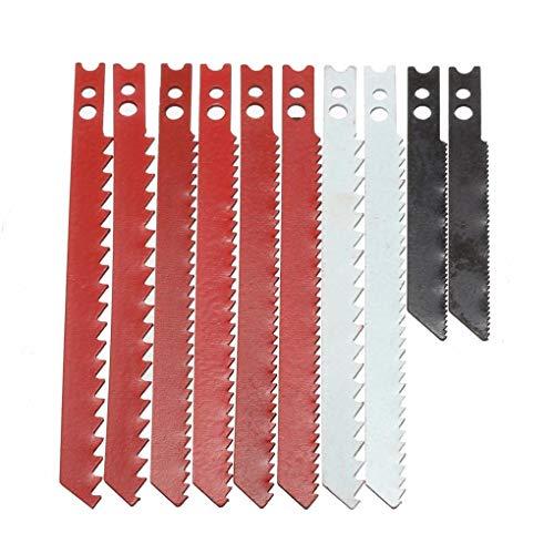 Yongse 10 stks zaagblad set voor zwart en decker decker decoupeerzaag metalen kunststof houten messen