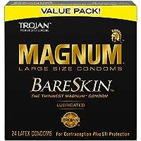 TROJAN(トロージャン) MAGNUM BARESKIN(マグナムベアスキン) ラージサイズ プレミアム品質のラテックスコンドーム 24個入り
