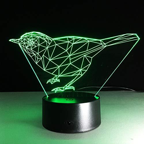 New Birds 3d Lights LED kleurrijke tafellampen in het grote huis nieuw usb LED Night Light powerbank Kids Desk Lamp