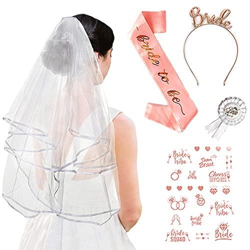 Bride to Be Ebufanda para despedida de soltera, accesorio de decoración, brida...