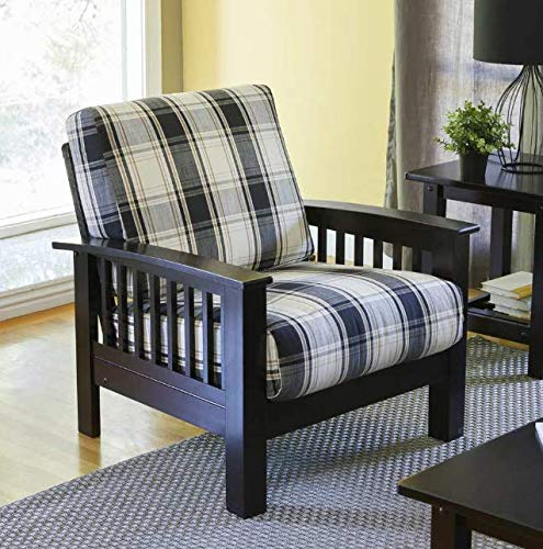 Media Room Chairs- Slipper Chair- Brown and Black Arm Chair Accent Club Chair- Lovely Color and A Soft, Cozy Seat