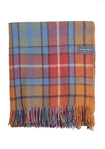The Tartan Blanket Co. Recycelte Wolldecke Schoßgröße Schottenmuster - Buchanan Antique (72cm x 165cm)