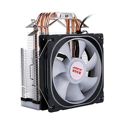 xiaoxioaguo Juego radiador silenciador 4 tubo de cobre i5 i7 escritorio 1150AMD1155CPURGB ventilador