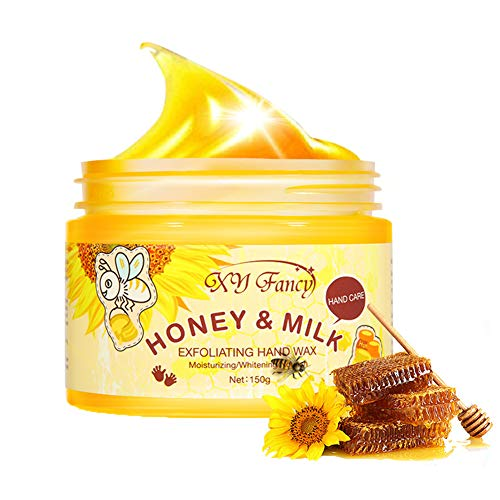 Hands Care Paraffin Milk & Honey Moisturizing Peel Off Hand Wax Mask Hydrating Exfoliating Nourish Whitening Skin 5.3oz/150ml