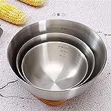 Cuencos de almacenamiento de anidación Set 304 Cuencos de mezcla de acero inoxidable Cuenco Accesorio para hornear con escala Cuenco de ensaladas de cocina Regalos veganos ecológicos