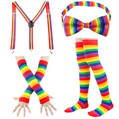 4 Piece Women's Rainbow Accessories Set from $8.49