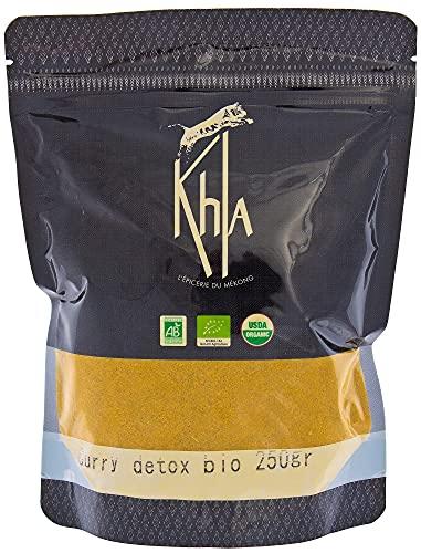 KHLA - Polvo de curry verde desintoxicante - Agricultura orgánica y comercio justo - Bolsa 250g