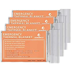 ANMEILU Emergency Mylar Thermal Blankets -Space Blanket Survival...