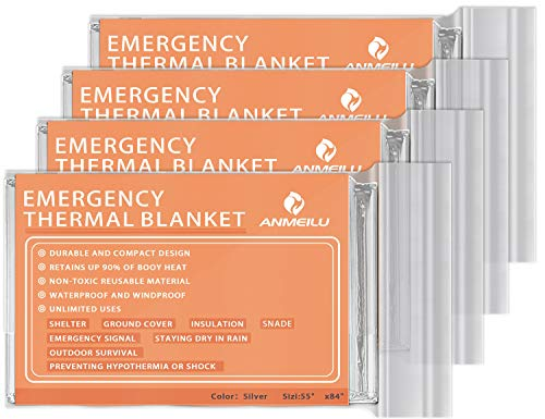 ANMEILU Emergency Mylar Thermal Blankets -Space Blanket...