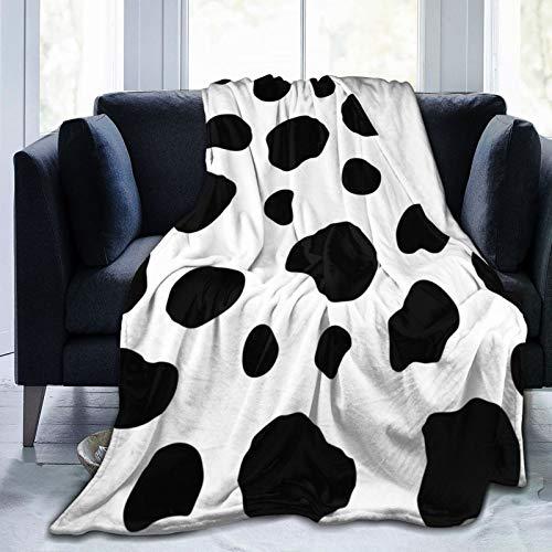 Greatertouch Manta multiestilo con estampado de piel de vaca de animales, manta de franela de forro polar, para decoración del hogar, sofá, playa, picnic, viajes, 152 x 122 cm, manta para adolescentes