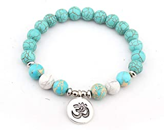 Jiuaisl Vintage Different Style Charm Bracelet Natural Stone Yoga Beads Strand Bracelet For Women Men