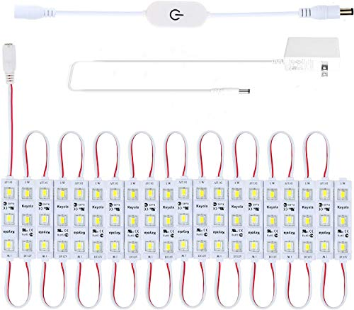 10ft 60 LED Under Cabinet Lighting Kit for Kitchen,Cupboard,Showcase,2400lm,6000K White