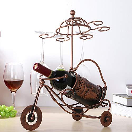 IHZ Estante del Vino del Carro de la Flor del Caballo, Estante Creativo del Vino Tinto al revés, Estante del Vino del Hierro del Estilo Europeo