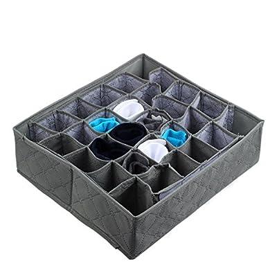 Aimik 30 Compartment Mesh Storage Box for Wardr...