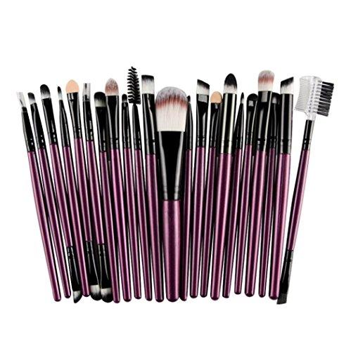 Pinceaux de maquillage STRIR 22 pièces Beauty Blender Maquillage Professionnel Pinceaux Maquillage Yeux Rubor Contour des lèvres Correcteur Pinceaux Cosmétiques (Violet)