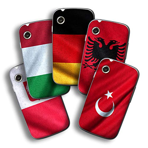 atFolix Designfolie kompatibel mit Wiko Ozzy, wähle Dein Lieblings-Design aus, Skin Aufkleber (Flaggen aus Europa)
