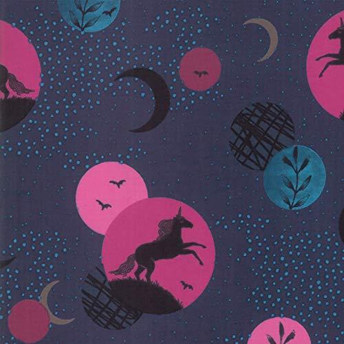 Ruby Star Society Fabrics Moda Crescent Sarah Watts Dark Teal