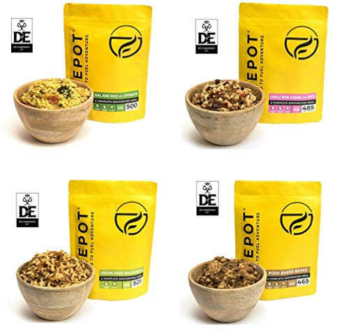 Firepot DofE Vegan Ration Expedition Pack Silver (4 Meal) - Healthy Dehydrated Expedition Food