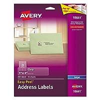 AVE18661 - Avery イージーピールメールラベル インクジェットプリンター用
