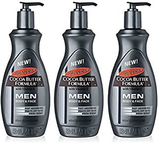Palmer's Cocoa Butter Formula Men Body & Face Lotion 13.5 Ounce (Value Pack of 3)