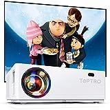 Proyector Bluetooth 1080P, TOPTRO 7200 LM Proyector Full HD 1920x1080 Soporta 4K , Proyectores Cine en Casa LED 100,000 Horas, Pantalla Gigante 350', Zoom X/Y, para TV Stick, PS4,