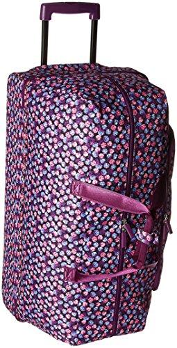 Vera Bradley Women's Lighten Up Large Rolling Duffle Luggage, Berry Burst