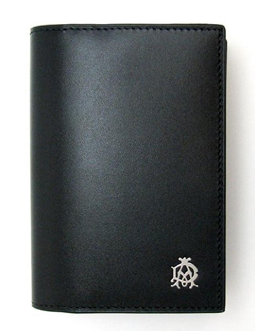 前述のシャット換気する[ダンヒル] L2R347A 財布 Wessex カードケース カーフスキン ブラック