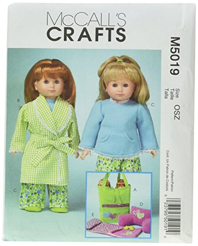 McCall's Patterns M5019 18-Inch Doll Clothes and Accessories, One Size Only