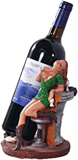 QINJLI Sexy Girl Wine Rack Décoration, Bouteille de Bureau vin de Stockage, Porte-Bouteille de vin personnalisée résine, d...