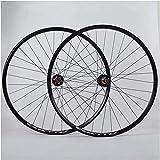 YSHUAI Ruedas para bicicleta 700 c 29 pulgadas, 7 – 11 velocidades, para bicicleta de carretera, freno de disco QR sellado, llantas negras, 700 c