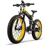 Bicicletas Eléctricas Plegables 1000W/500W 40km/h Ruedas Anchas 26 x 4 Pulgadas, Bici de Ciudad/Montaña/Playa/Nieve de Aluminio Bateria Removible 48V 12,8AH Shimano 27 Velocidades [EU Stock]