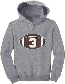 Tstars Gift for 3 Year Old Boy Football 3rd Birthday Toddler Hoodie