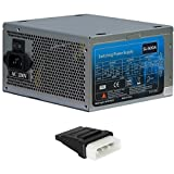 500 Watt Netzteil ATX Super Silent 120mm Lfter 19 - 25 db PC-Netzteil 4x S-ata inkl. Adapter Molex auf S-ATA