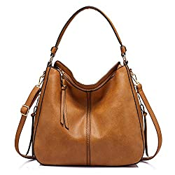 Durable attractive brown hobo purse with cheap price and expensive look.