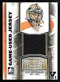2016 Leaf Vault 11/12 ITG Broad Street Boys #M10 Ilya Bryzgalov Jersey Card #1/1