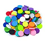 AUEAR, 100 Pack Replacement Felt Pads Round Essential Oil Diffuser Locket Necklace Refill Pads for Bracelet Car Diffuser Vent Clip 0.87 inch