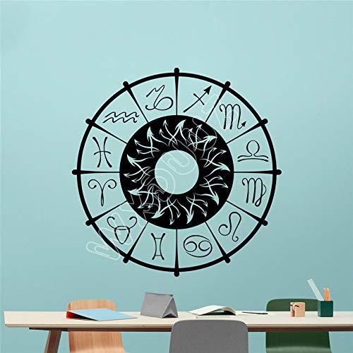 JXWH sterrenbeeld wandtattoo horoscoop hemel sterren vinyl stickers kunst decor wandafbeelding muursticker Home Decor