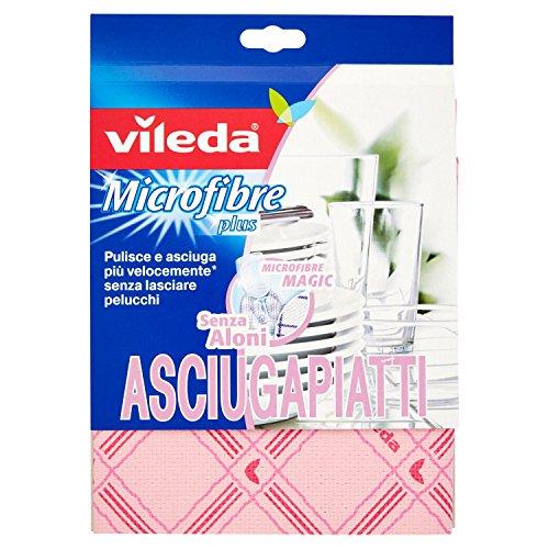 Vileda–Microfibre Plus Geschirrtücher 55x 40cm–1Tücher , sortiert