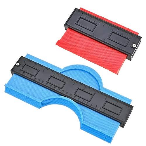 Replicatore di Contorno Forme Contorni, 2 Pezzi Contour Duplicator Gauge, 5 e 10 Pollici Gauge Duplicator...