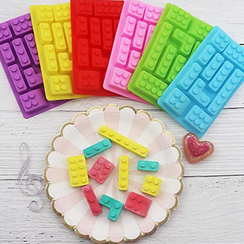 LEGO Enfants Building Blocks En Forme De Gâteau En Silicone/Moule À Chocolat/Fudge, Crème Glacée/Bac À Glace/Gelée/Biscuit DIY Moule Cuisine Outils De Cuisson Démoulage Facile 2 Pcs/Pack