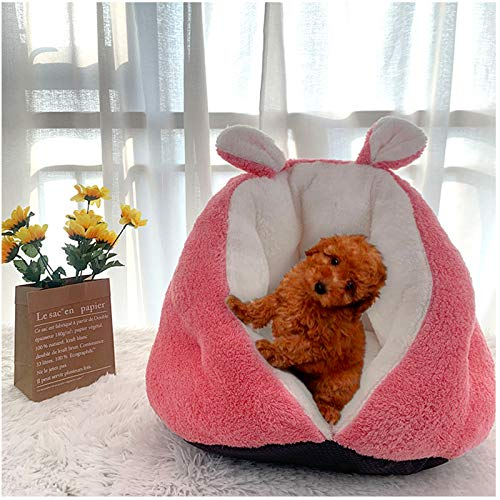 Dog's nest cat's nest pet's nest thickened semi closed small cat bed dog pad cat pad portable dog bed sofa bed sedation bed warm Plush pad with anti slip base