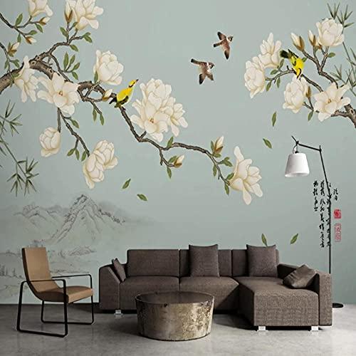 Cajgvavj Papier Peint Photo Personnalisé Style Chinois 3D Stéréo Fleur Et Oiseau Mural Salon Canapé Étude Décor À La Maison Papel De Parede Autocollants
