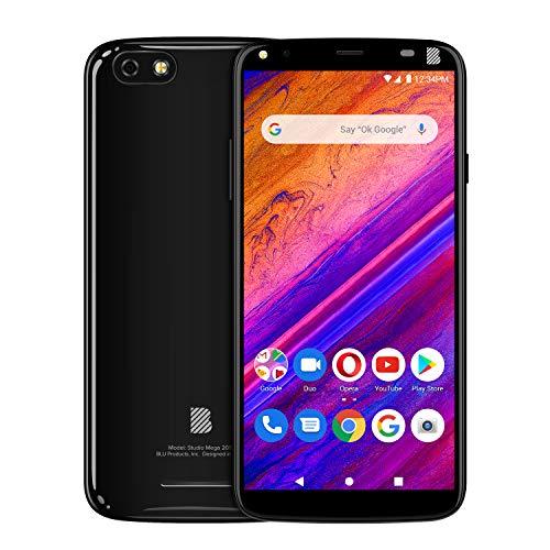 BLU Studio Mega 2019-6.0' Display Smartphone, 32GB+2GB Ram- International Unlocked- Black