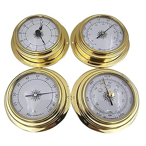 LNIBA 4PCS 98mm Termómetro Higrómetro Barómetro, Pronóstico del Tiempo Estación, Meteorológica Medidor de Humedad, Juego de Estación Meteorológica