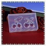 JSJJAQA Molde de Silicona Molde de Goma de Gota de Gota de Cristal de Silicona Transparente Transparente Herramientas de Molde Hecho a Mano Molde de Silicona
