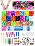 Volance DIY Pulseras Gomas, Gomas Para Pulseras de Colores 22 Colores + Muchos Pequeños Accesorios, los Mejores Regalos 6800